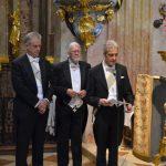 Bei der Gelöbniszeremonie in der St. Annakirche: Gouverneur Liechtenstein, Stefan Reichert, Kanzler Stolberg