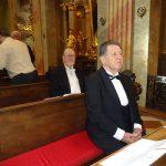 Ordensnovize Josef Deglmann vor der Aufnahme