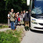 Bei der Ankunft am steirischen Landsitz von OB Georg v. Halbgebauer