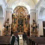 Barocker Hauptaltar und Führer in der Kirche von St. Johann bei Herberstein