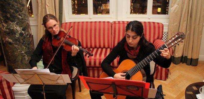 Musikalische Untermalung des Abends